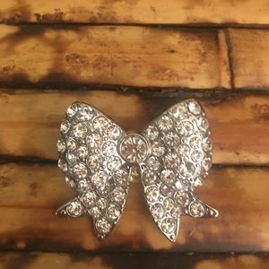 Silver Ribbon Rhinestones Hand Made by me